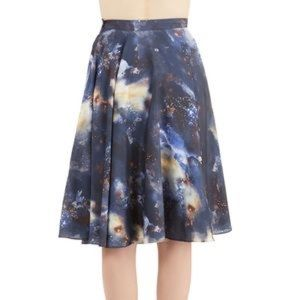 Modcloth Ikebana For All Skirt in Galaxy